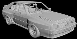 audi quattro sport 3D model