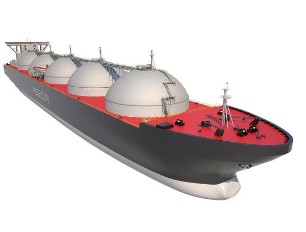 3D tanker ship lng