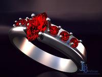 3D abundance silver gems model