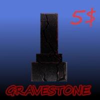 gravestone tombstone 3D model