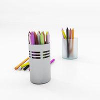 3D pencil pot