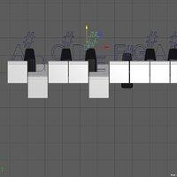 keyboard grand piano rigging model