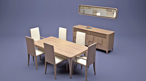 dining furniture set 3D model