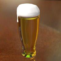 3D realistic beer