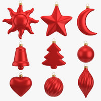 christmas ornament set 9 model