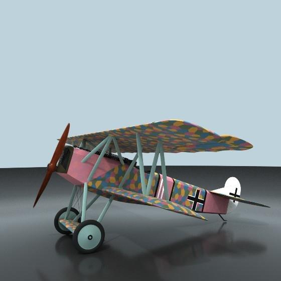 fokker d vii ww1 fighter 3D model
