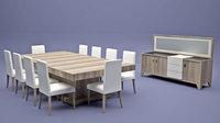 dining room set lola 3D model