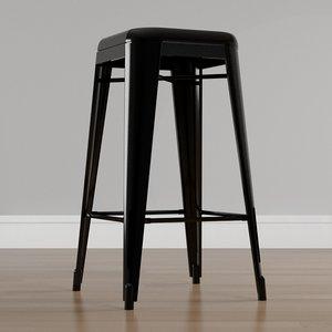 stackable metal bar stool model