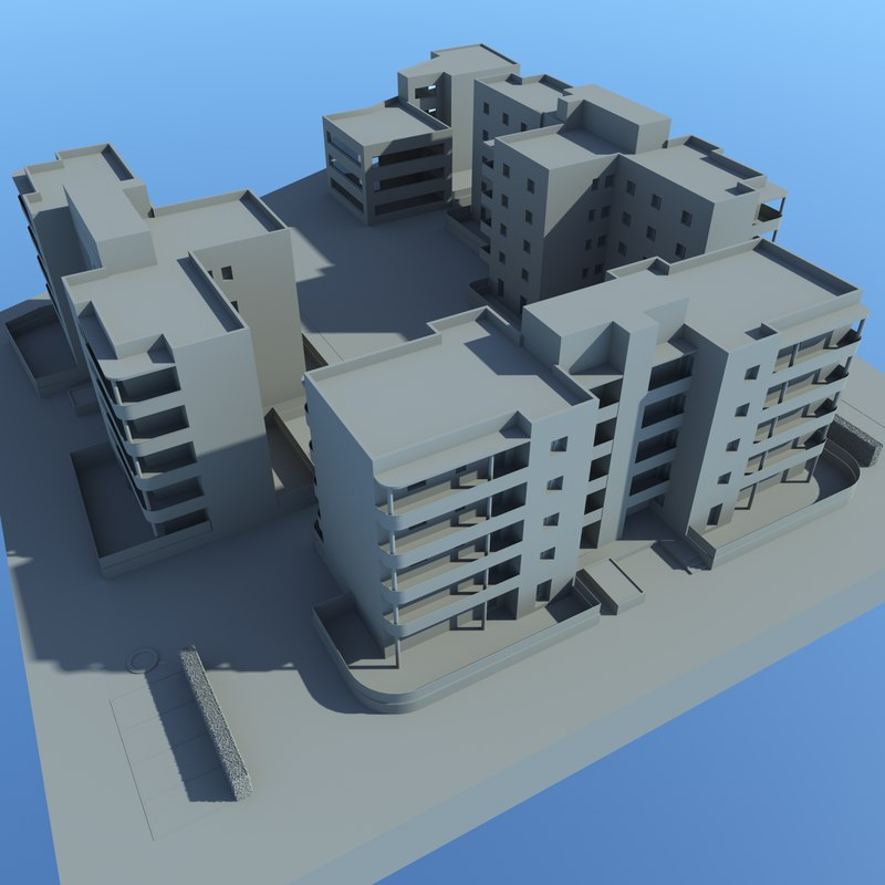 residential condominium 3D