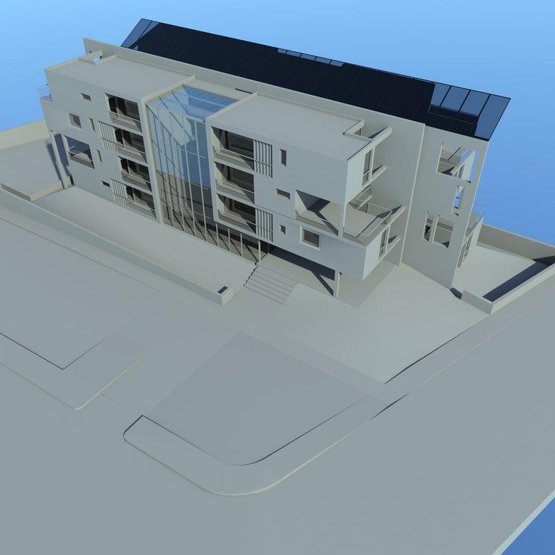 residential condominium apartment 3D model
