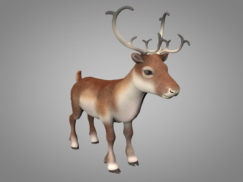 3D christma deer reindeer
