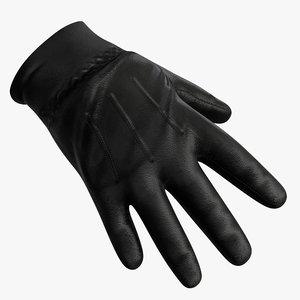 leather gloves 3D model