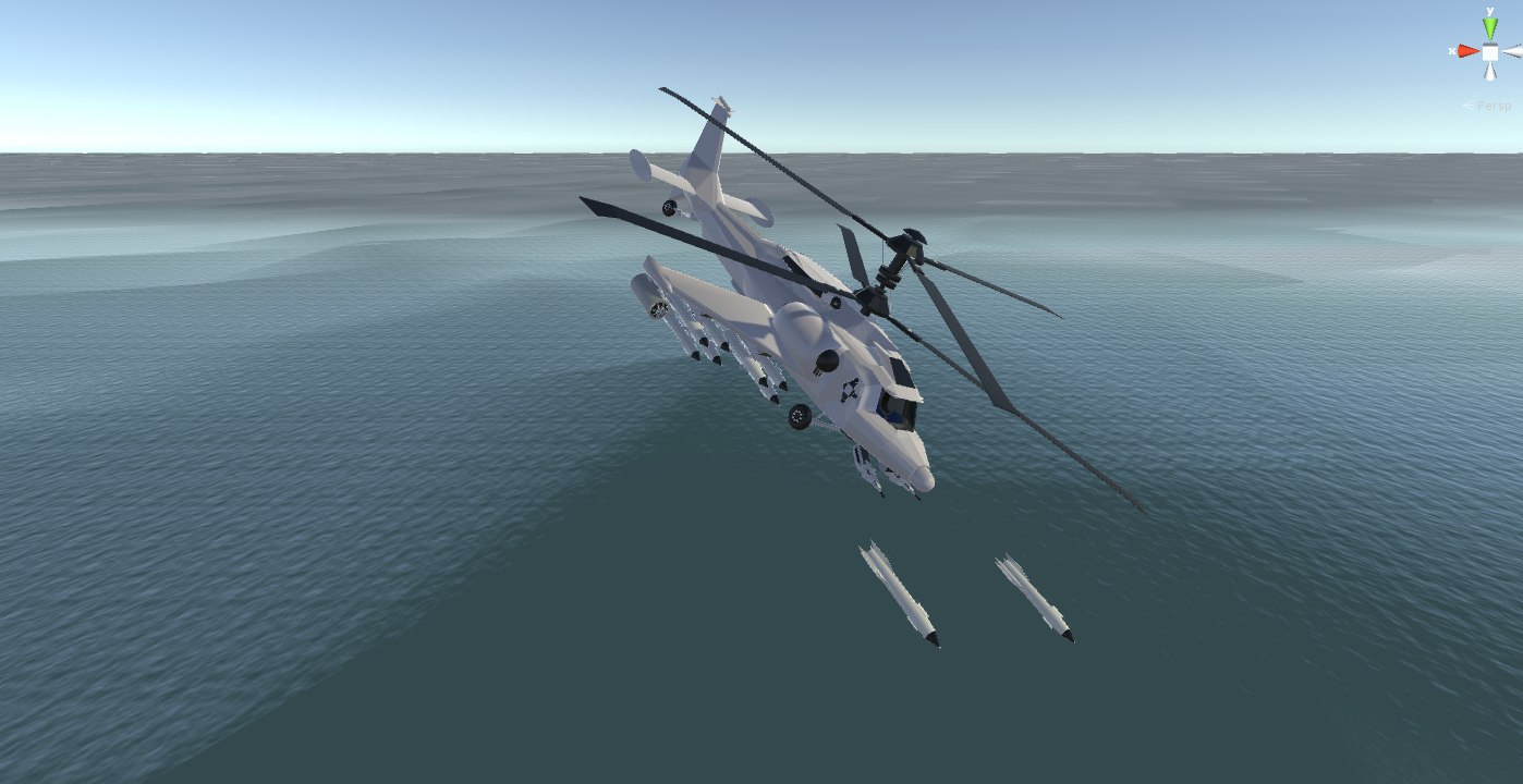 3D model combat helicopter military games