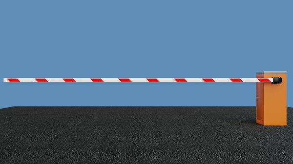 industrial barrier 6m 3D