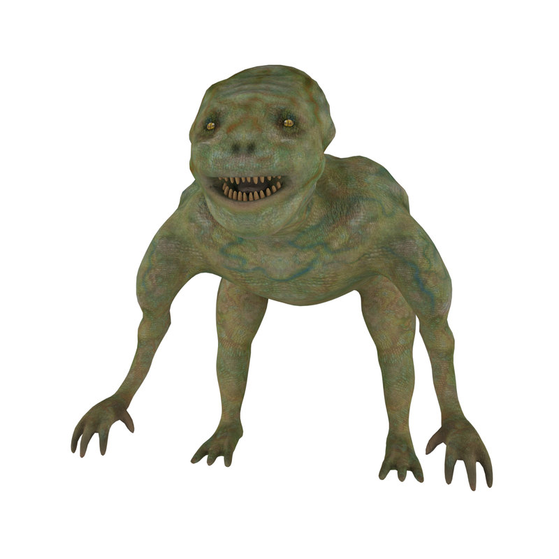 3D reptile toothy