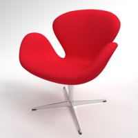 Fritz Hansen Swan fabric red