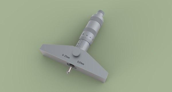 depth micrometer 3D