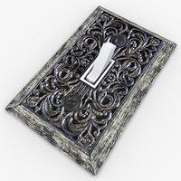 3D ornate light switch model