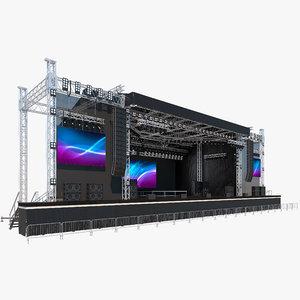 concert stage model