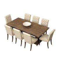 Restoration Hardware/St. James Rectangular Dining Table&Bennett Roll-Back Side Chair