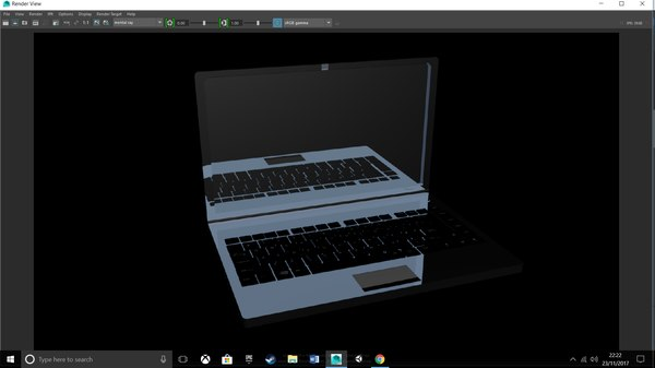shiny laptop 3D model