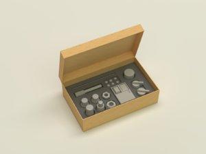 3D eletric mech components model