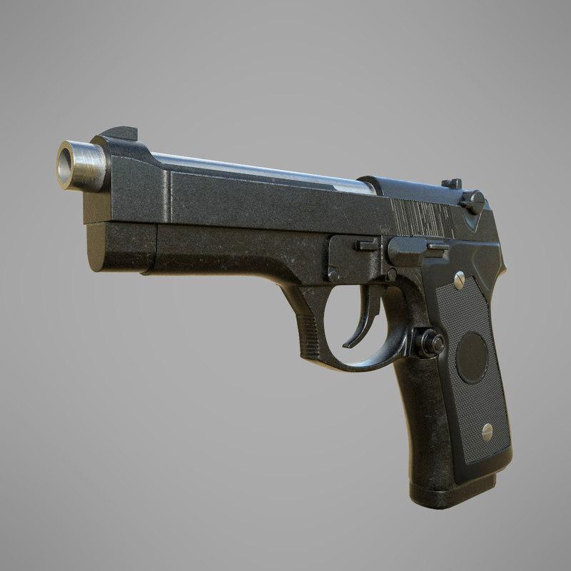 3D model beretta 92fs