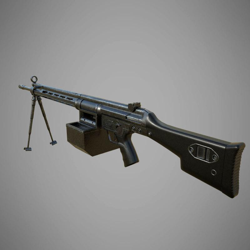 heckler koch 21e 3D model