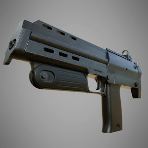 heckler koch mp7a1 3D model