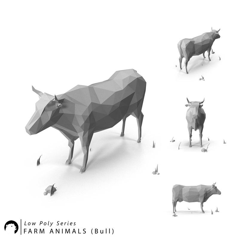 3D model stylized animal