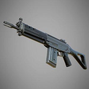 sig sg 552 commando 3D model
