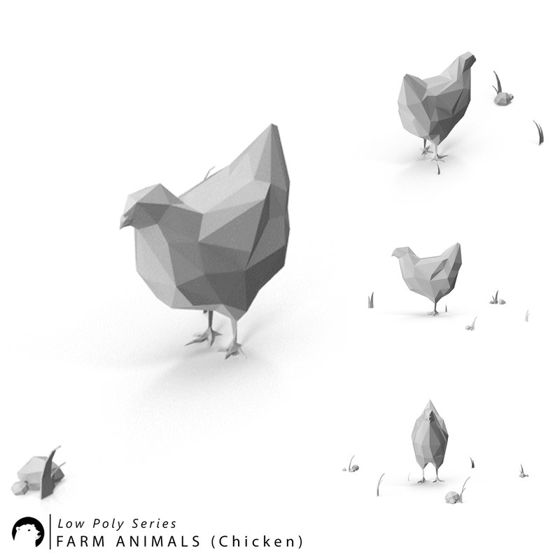 stylized animal 3D model