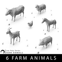 Low Poly Farm animals