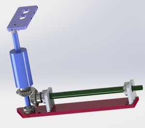 helical gear drive mechanism model