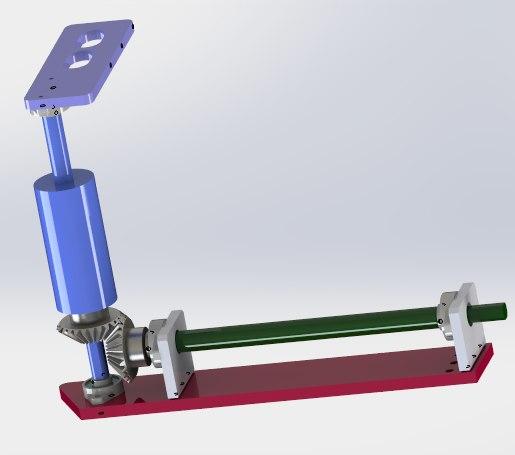 helical gear drive mechanism model