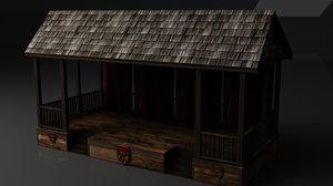 medieval royal spectator stage 3D