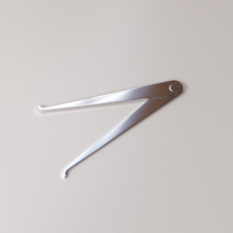 3D caliper model
