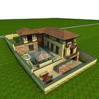 3D villa model
