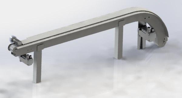3D vibrating conveyor