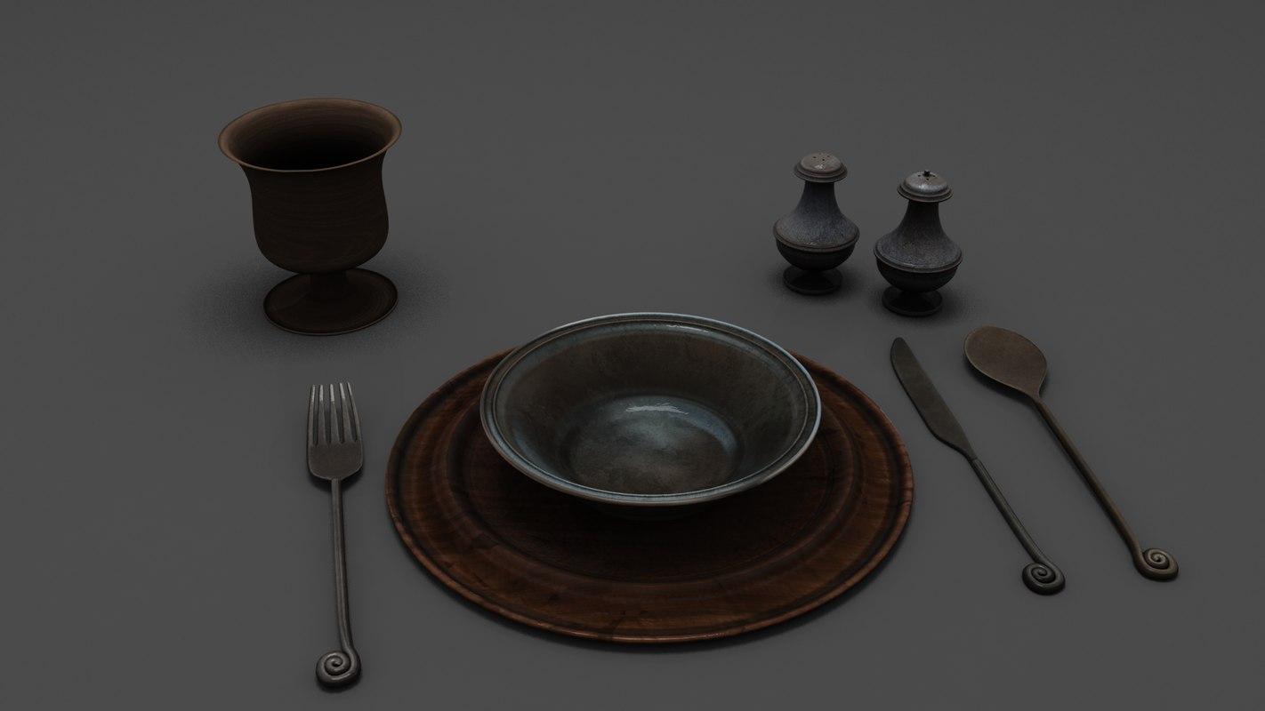 medieval flatware model
