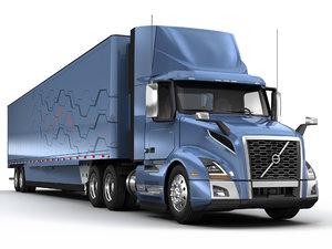 vnl 300 semi trailer 3D model