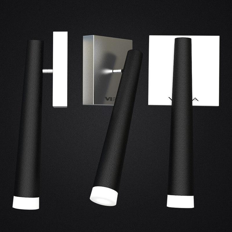sconce vibia slim carbon 3D model