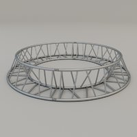 triangular circular truss 3D model
