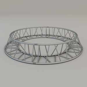 triangular circular truss 3D model