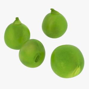 3D dried green peas