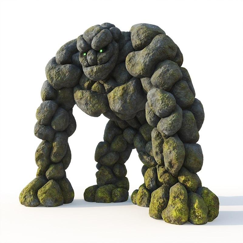 stone golem model