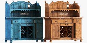 3D model vintage bureau