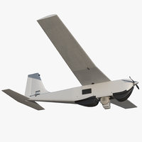 hand launched unmanned aircraft 3D model