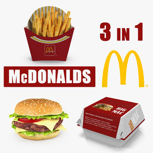 3D mcdonalds food