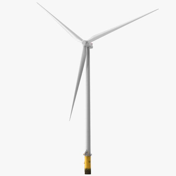 offshore wind power turbine 3D model